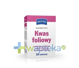 DIAGNOSIS S.A. Kwas Foliowy BIOTTER 0,4 mg 30 tabletek
