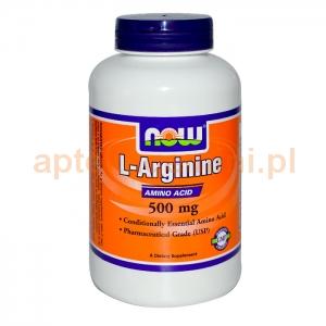 NOW FOODS L-Arginine 500mg, 100 kapsułek