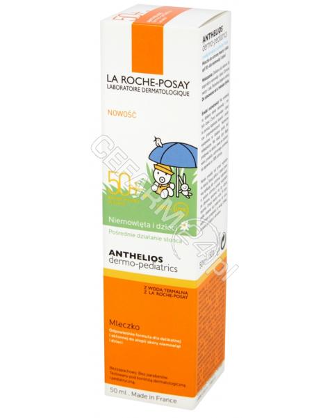 LA ROCHE-POS La Roche-Posay anthelios dermo-pediatrics spf 50+ mleczko do ochrony twarzy i ciała dla niemowląt i dzieci 50 ml + La Roche Lipikar Syndet żel-krem do mycia twarzy i ciała 100 ml (data ważności 31.10.2017)