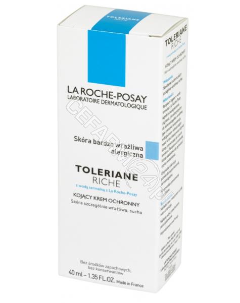 LA ROCHE-POS La Roche-Posay Toleriane riche - kojący krem ochronny do skóry suchej 40 ml