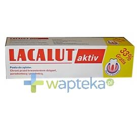 N.P.ZDROVIT SP Z O.O. LACALUT AKTIV Pasta do zębów promocja 33% gratis 100ml