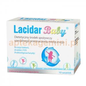 RANBAXY Lacidar Baby, od 4. miesiąca życia, 10 saszetek OKAZJA