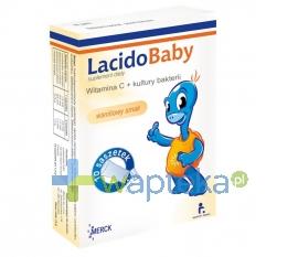 MERCK LacidoBaby z witaminą C, smak waniliowy, 10 saszetek