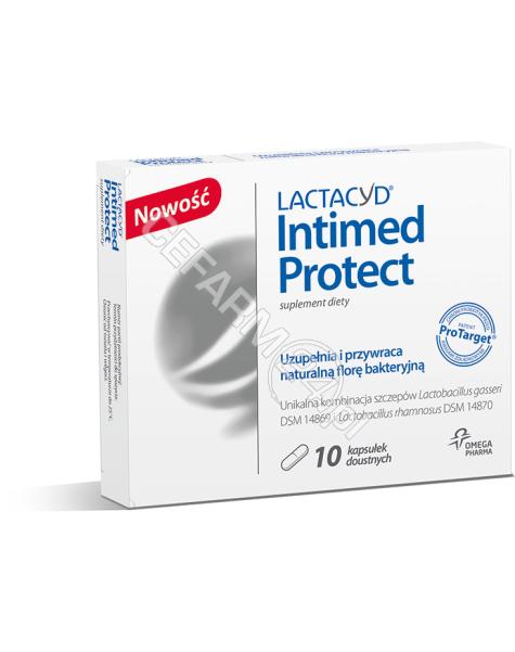 OMEGA PHARMA Lactacyd intimed protect x 10 kaps doustnych