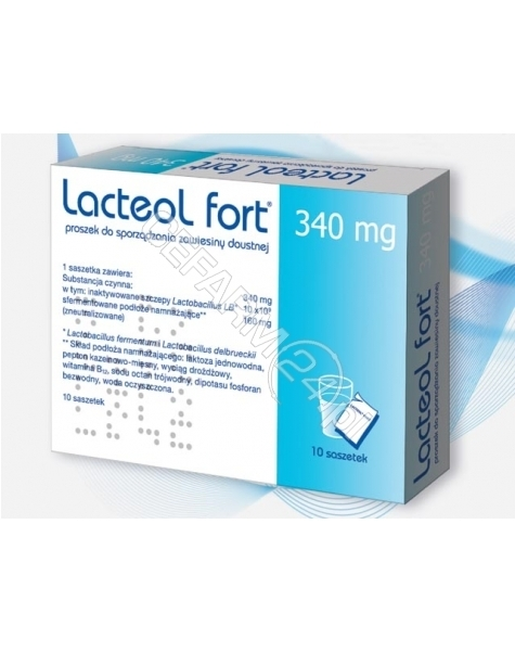 SOLVAY Lacteol fort 340 mg x 10 sasz
