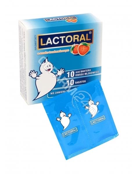 BIOMED KRAKÓW Lactoral x 10 sasz o smaku truskawki