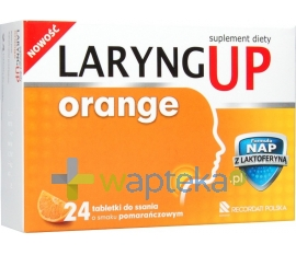 RECORDATI Laryng up Orange, 24 tabletki do ssania
