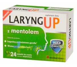RECORDATI POLSKA SP. Z O.O. Laryng up z mentolem 24 tabletki do ssania