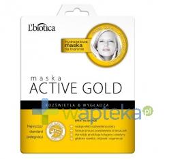 LBIOTICA Lbiotica maska hydrożelowa na tkaninie active gold 1sztuka