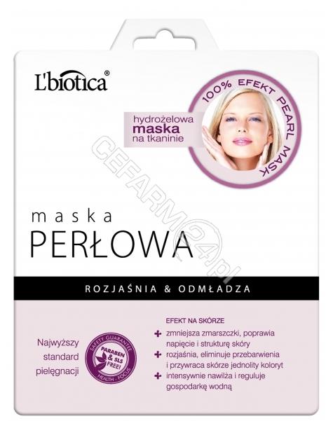 L'BIOTICA L'biotica maska hydrożelowa na tkaninie perłowa 25 g