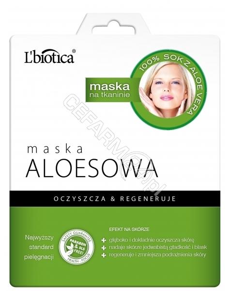 L'BIOTICA L'biotica maska na tkaninie aloesowa 23 ml