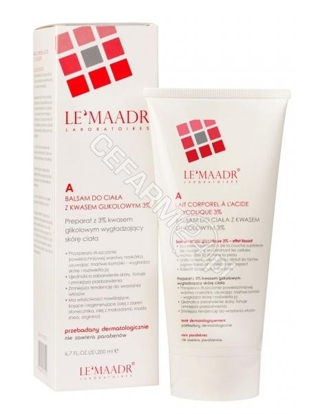 INFOPLUS Lemaadr A balsam do ciała z kwasem glikolowym 3% 200 ml