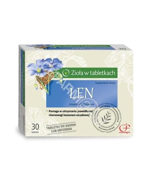 COLFARM Len x 30 tabl do ssania lub gryzienia