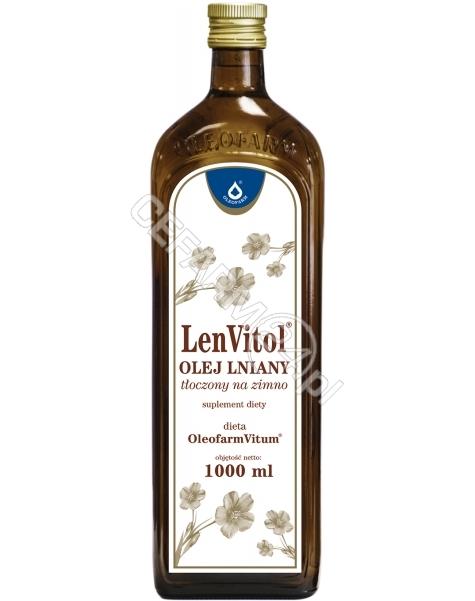 OLEOFARM LenVitol - olej lniany budwigowy tłoczony na zimno 1000 ml