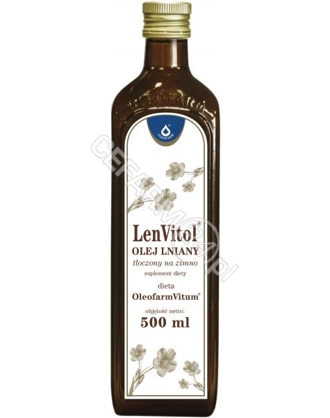 OLEOFARM LenVitol - olej lniany budwigowy tłoczony na zimno 500 ml