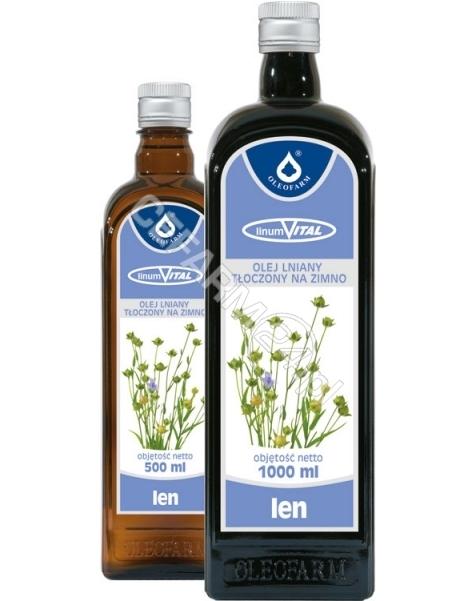 OLEOFARM LinumVital - olej lniany tłoczony na zimno 500 ml (Oleofarm) (data ważności 31.03.2016)