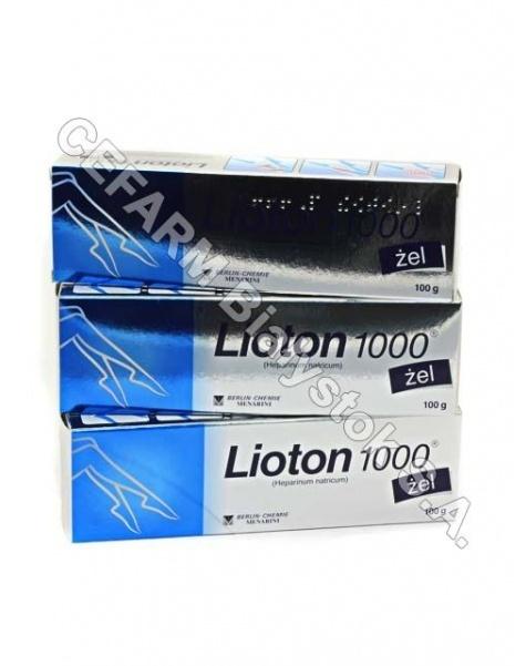 MENARINI Lioton 1000 żel 100 g