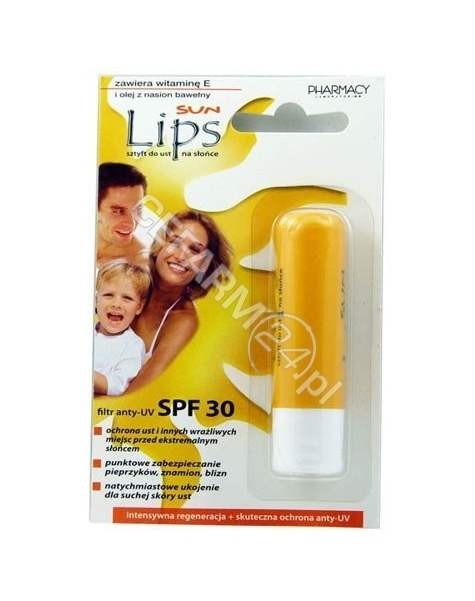 PHARMACY LAB Lips sun sztyft do ust na słońce 3,8 g