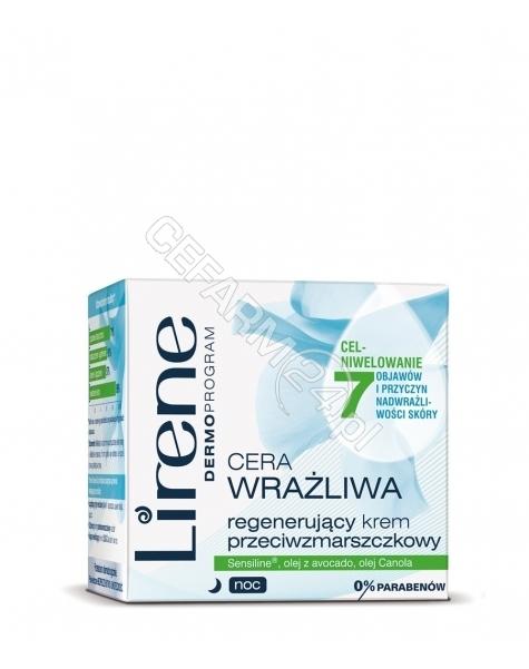 DR IRENA ERIS Lirene Cera Wrażliwa regenerujący krem przeciwzmarszczkowy na noc 50 ml