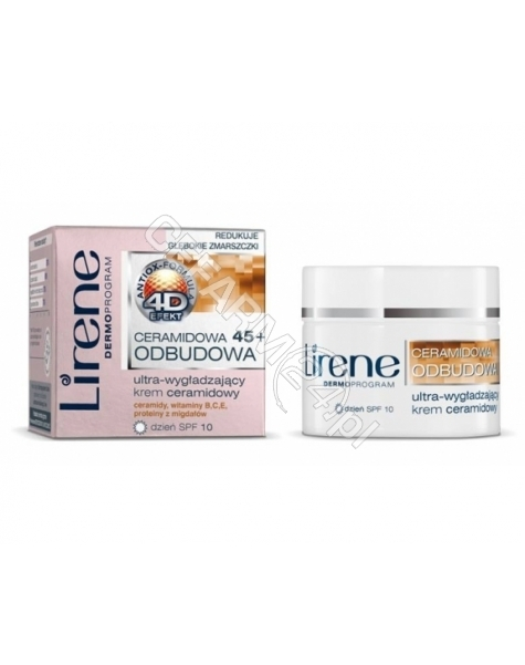 DR IRENA ERIS Lirene Ceramidowa Odbudowa 45+ ultra-wygładzający krem ceramidowy na dzień 50 ml