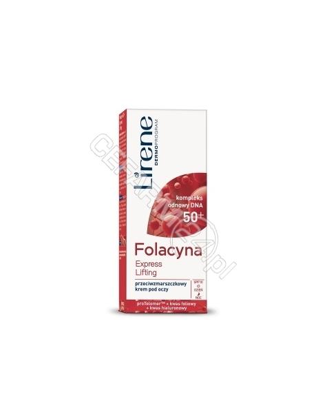 DR IRENA ERIS Lirene Folacyna 50+ EXPRESS LIFTING przeciwzmarszczkowy krem pod oczy 15 ml