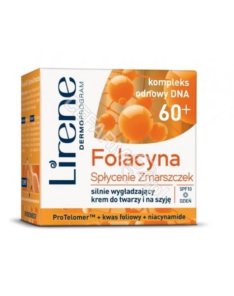 DR IRENA ERIS Lirene folacyna 60+ Spłycenie Zmarszczek silnie wygładzający krem do twarzy i na szyję na dzień 50 ml
