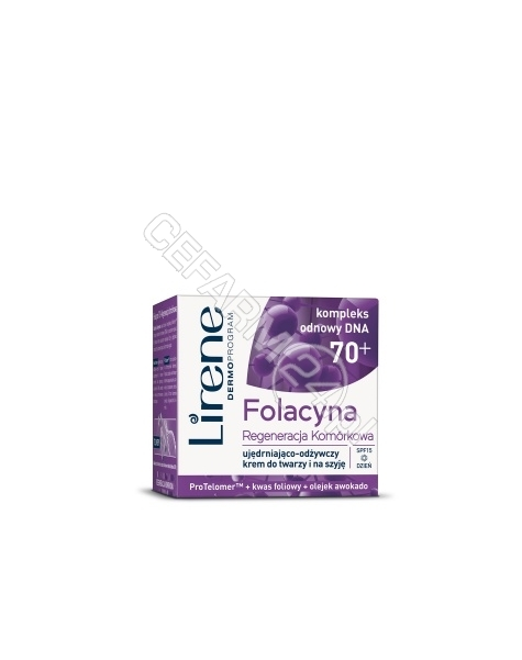 DR IRENA ERIS Lirene Folacyna 70+ REGENERACJA KOMÓRKOWA ujędrniająco-odżywczy krem do twarzy i na szyję na dzień 50 ml