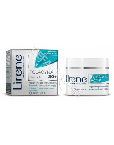 DR IRENA ERIS Lirene Folacyna proTELOMER 30+ regenerująco-nawilżający krem do twarzy i na szyję na dzień 50 ml