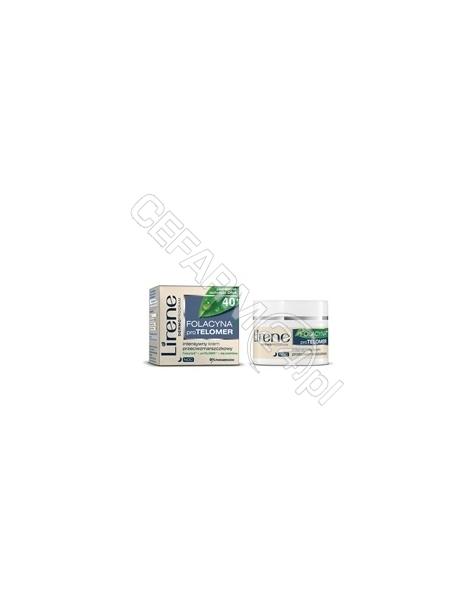 DR IRENA ERIS Lirene folacyna+proTelomer 40+ intensywny krem przeciwzmarszczkowy na noc 50 ml
