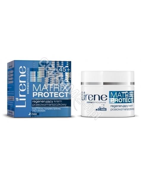 DR IRENA ERIS Lirene Matrix Protect 45+ regenerujący krem przeciwzmarszczkowy na noc 50 ml