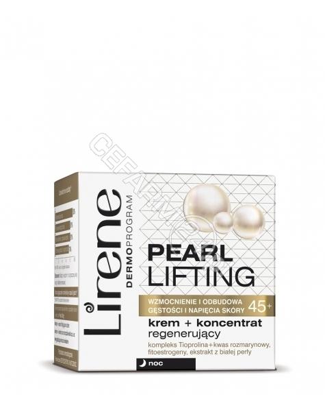 DR IRENA ERIS Lirene Pearl Lifting 45+ krem+koncentrat regenerujący na noc 50 ml