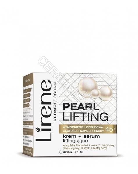 DR IRENA ERIS Lirene Pearl Lifting 45+ krem+serum liftingujące na dzień spf-15 50 ml