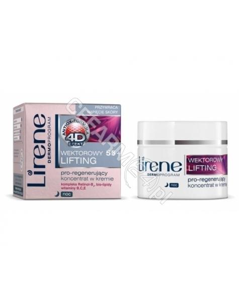 DR IRENA ERIS Lirene Wektorowy Lifting 55+ pro-regenerujący koncentrat w kremie na noc 50 ml