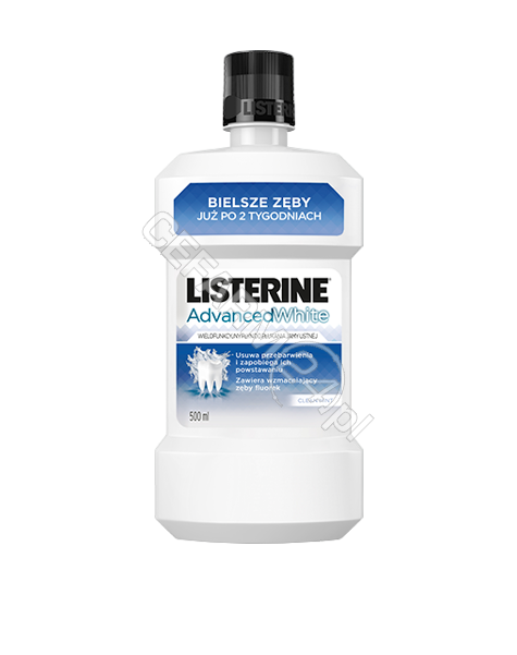 JOHNSON & JOHNSON Listerine advanced white - płyn do płukania jamy ustnej 500 ml