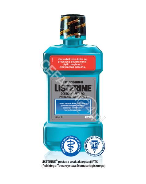 PFIZER Listerine tartar control - płyn do płukania jamy ustnej 500 ml