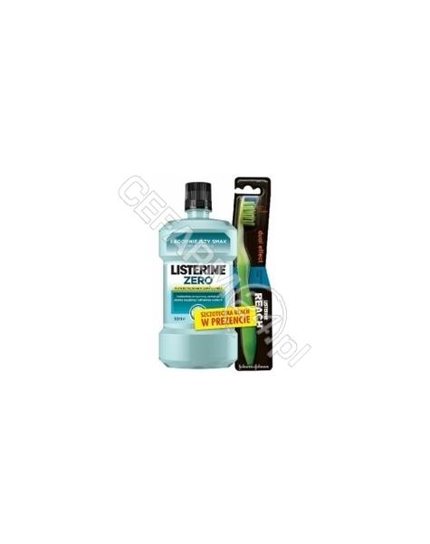 JOHNSON & JOHNSON Listerine zero - płyn do płukania jamy ustnej 500 ml + szczoteczka reach
