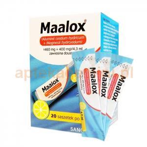 SANOFI Maalox, zawiesina doustna, 20 saszetek po 4,3ml