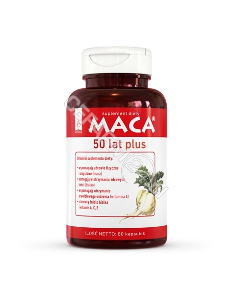 A-Z MEDICA Maca 50 lat plus x 80 kaps (A-Z Medica)