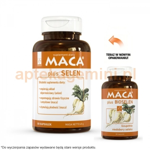 A-Z MEDICA Maca Plus Selen (Maca Plus Bioselen), 80 kapsułek