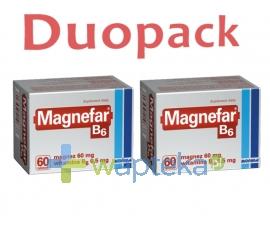 BIOFARM SP.Z O.O. Magnefar B6 120 tabletek (2x 60tabletek)