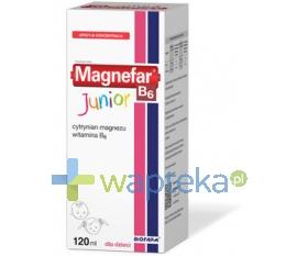 BIOFARM SP.Z O.O. Magnefar B6 Junior płyn 120 ml