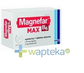 BIOFARM SP.Z O.O. Magnefar B6 MAX 50 tabletek