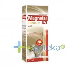 BIOFARM SP.Z O.O. Magnefar B6 Senior Tonik płyn 500 ml