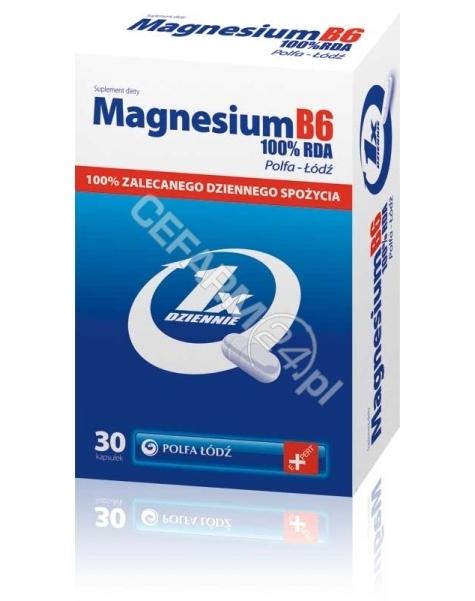 POLFA ŁÓDŹ Magnesium b6 100% RDA x 30 kaps