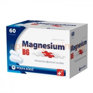 POLFA ŁÓDŹ Magnesium B6, 60 tabletek