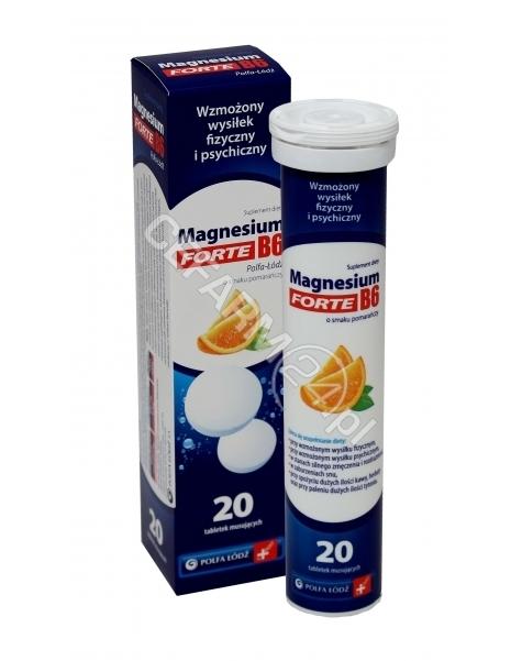 POLFA ŁÓDŹ Magnesium b6 forte x 20 tabletek musujących
