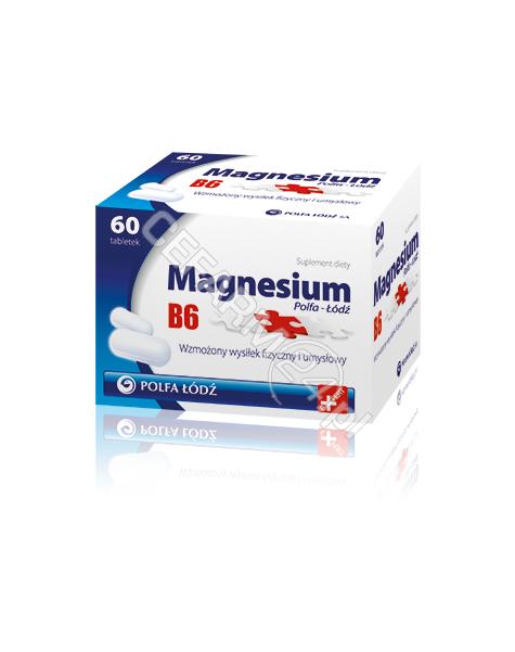 POLFA ŁÓDŹ Magnesium b6 polfa łódź x 60 tabl