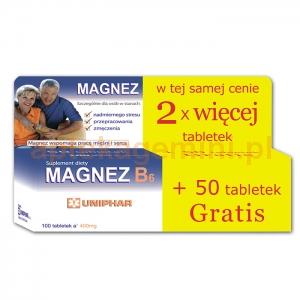 UNIPHAR Magnez B6, 100 tabletek