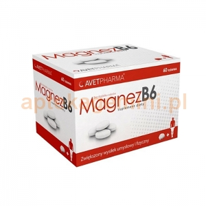 AVET PHARMA Magnez B6, 60 tabletek