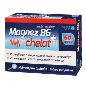 NORD FARM Magnez B6 + Chelat, 60 tabletek